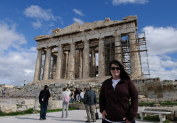 Meghan in front of the Parthenon, Athens