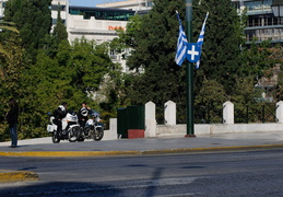 cops on patrol, Athens