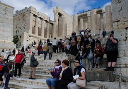 tourists at the Acropolis, Athens