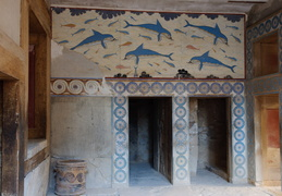 swimming dolphins, Knossos
