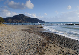 stony beach in Plakias