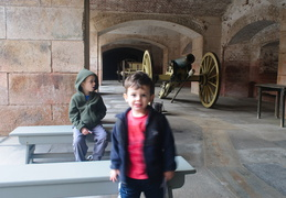 Jack and Owen at Fort Point