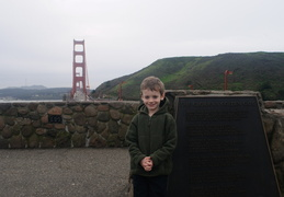 Jack at the Golden Gate Bridge overlook
