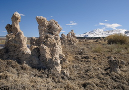Tufa and mountain