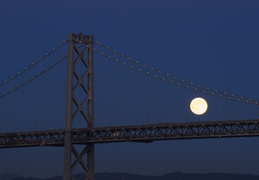 Bay Bridge & full moon