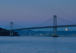 full moon & Bay Bridge