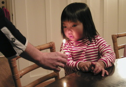 blowing out the birthday candle