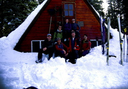 group shot at Ludlow Hut