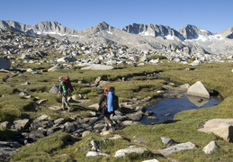 hiking across the alpine tundra